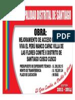 Cartel de Obra Muni Santiago