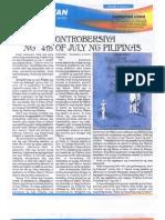 Sanbayan 2009 July Newsletter