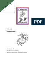 US Marine Corps Pistol Marksmanship Manual