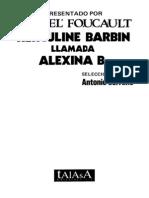 Michel Foucault - Herculine Barbin Llamada Alexina B