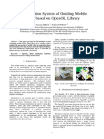 3D Simulation System of Guiding Mobile Robot based on Open GL Library
