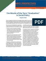 Misuse of Graduation Pathways Perspectives 14