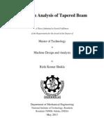 Vibration Analysis of Tapered Beam