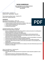 marketing resume rachel h scarborough