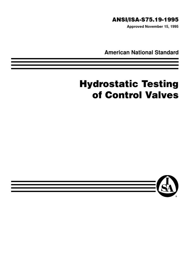 control valve hydro static testing | Valve | Pressure on
