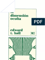 La Dimension Oculta (Edward T Hall)