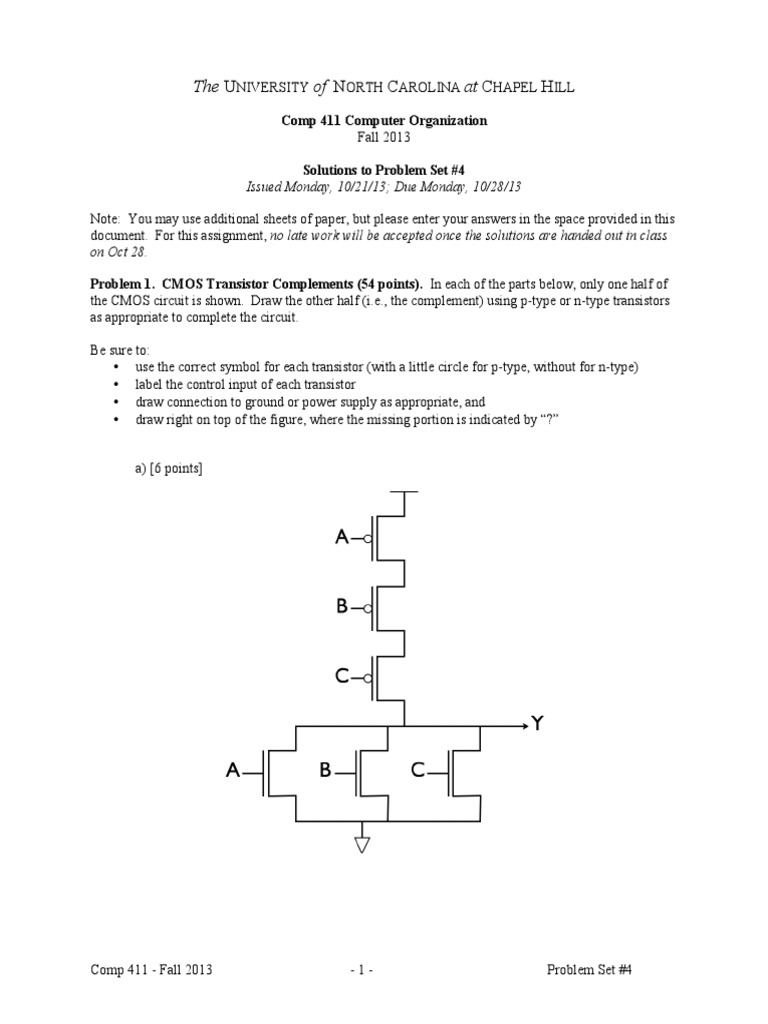 Solutions 4 For Computer Organization And Design Revised 4th Ed Cmos Transistor