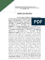 Inquérito Civil n. 740/2008 - Termo de Reunião