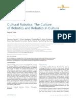 InTech-Cultural Robotics the Culture of Robotics and Robotics in Culture