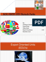 Eou Ehtp Stp Biotech Parks, an explained version of foreign trade policy