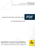 SPLN 107-1993 Color Standard for Pipe and Storage Tank in the Power Plant