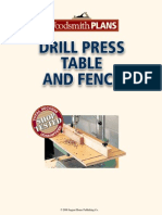 Woodsmith Drill Press Table