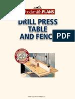Woodsmith Drill Press Table