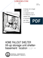 1989 FEMA HOME FALLOUT SHELTER Modified Ceiling Shelter Basement Location E 4p