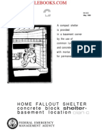 1980 FEMA Home Fallout Shelter Concrete Block Shelter-basement Location Plan C 5p