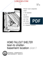 1980 FEMA Fallout Shelter Lean-To Shelter Basement Location Plan F 5p