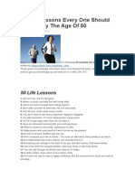 50 Life Lessons Every One Should Know by the Age of 50