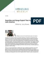 Guerrillas and Gangs Exploit Their Agendas in Latin America