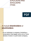 Shareholders and Shareholder Activism