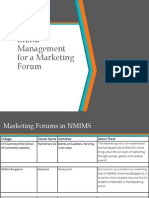 Brand Management for a Marketing Forum (1)