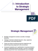 Chapter 3 Introduction to Strategic Management