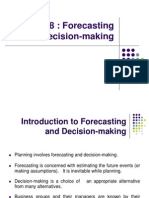 Chapter 8 Forecasting and Decision-Making