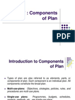 Chapter 7 Components of PLan