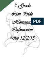 homework due 12-02-13