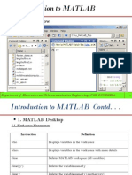 small introduction to basics of MATLAB