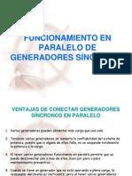 Funcionamiento en Paralelo de Generadores Sincronos