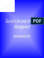 Muhammad-Asif Gurus in the Area of Quality Management
