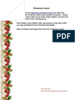 Christmas Carol Lyrics Printable