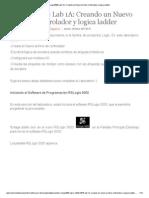 RsLogix5000 Lab 1A_ Creando Un Nuevo Archivo Controlador y Logica Ladder