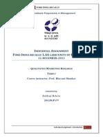 KULDEEP BEHERA - QMR Individual Assignment - Ford India