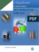 MCX Commodity Newsletter 18-December