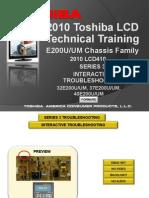 Toshiba UM 32E200U 37E200U 40E200U Chasis E200U Manual Entrenamiento