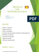 Firewalls for Network Sec