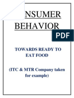 CONSUMER BEHAVIOR Towards Ready 2 Eat Food