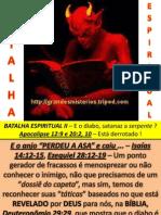 Estudo na celula MARANATA. Batalha Espiritual II. E o diabo. Está derrotado. 12.07.2013