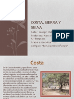 Beneficios Del Suelo de La Costa, Sierra y Selva