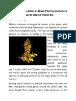 Pharma Stocks upbeat as Glaxo Pharma announces to up its stake in Indian Biz