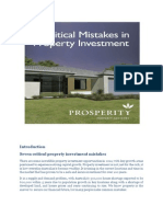 7 Critical Property Investment Mistakes