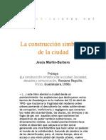 La construcción simbólica de la ciudad (Prólogo)