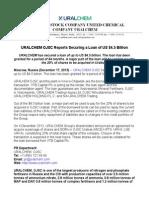 URALCHEM OJSC Reports Securing a Loan of US $4.5 Billion