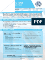 ISO 13485 Lead Implementer Two Page Brochure