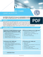 ISO 13485 Lead-Auditor - Four Page Brochure