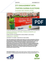 Civil Society Engagement with Political Parties During Elections