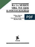 La Hoz Luis - Vendra La Muerte Y Tendra Tus Ojos - 33 Poetas Suicidas