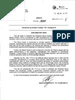 Senate Bill No 2047 - Philippine Blood Disease and Transfusion Center (Filed by Senator TG Guingona)