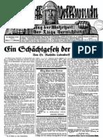 1930 Nr. 4, Ein Schächtgesetz der Kabbala; Ludendorffs Volkswarte, Quell, A3 Format